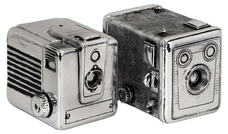 Asst. of 2 Camera Boxes, Silver