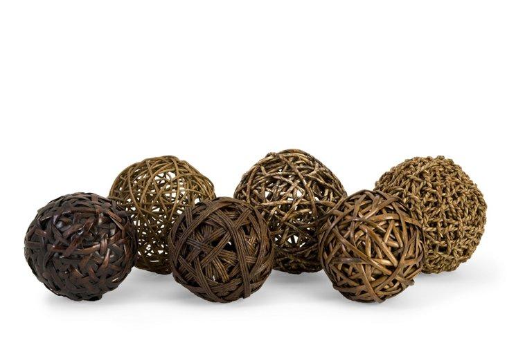 Worren Natural Wrapped Balls, Asst. of 6