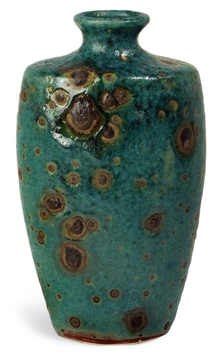 """14"""" Napa Vase, Turquoise"""