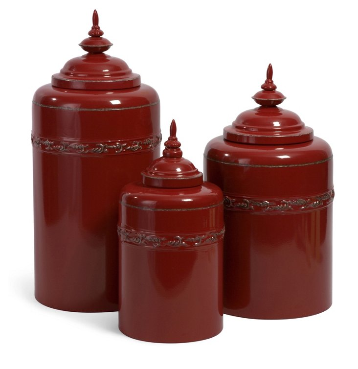 Metal Canisters, Asst. of 3