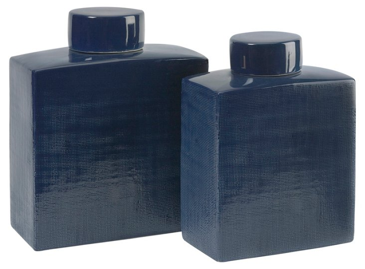 Asst. of 2 Wilfred Ceramic Canisters