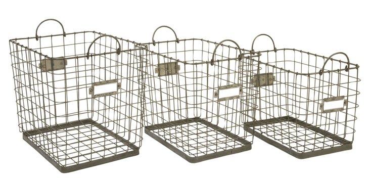 Asst. of 3 Newbridge Storage Baskets