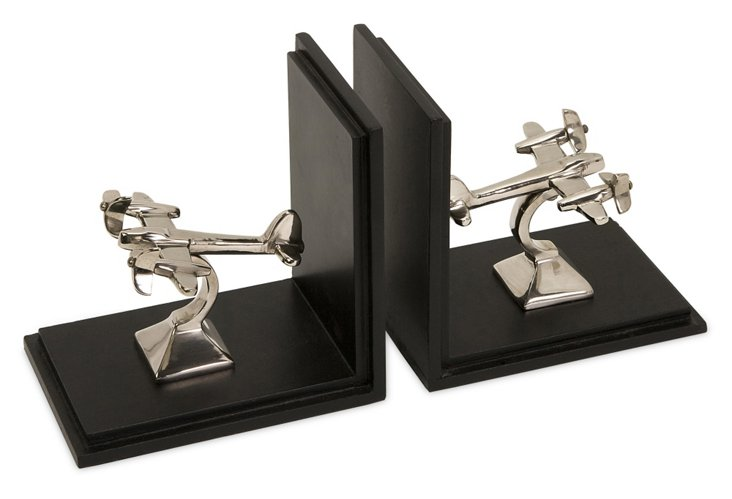 Pair of Up in the Air Bookends