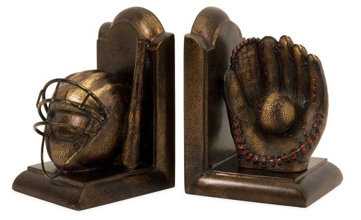 Pair of Baseball Bookends