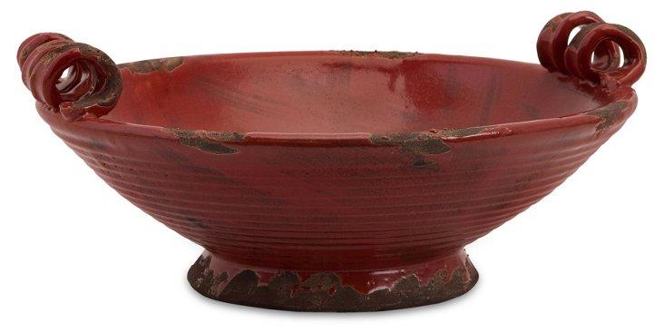 "15"" Garnet Bowl, Red"