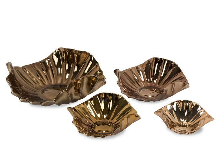 Fiorello Ceramic Trays, Asst. of 4