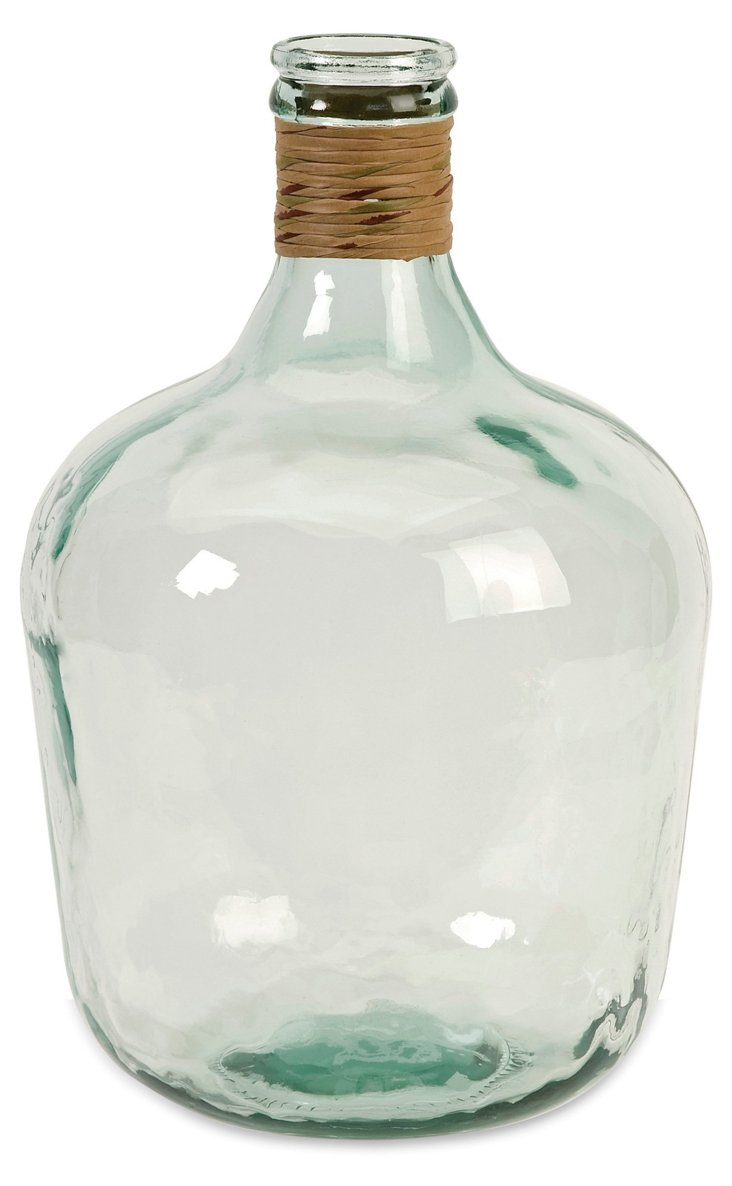 "17"" Recycled-Glass Jug, Clear"
