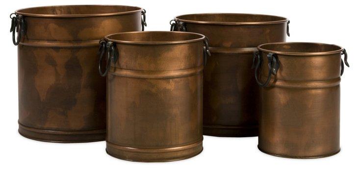 S/4 Tauba Copper Planters