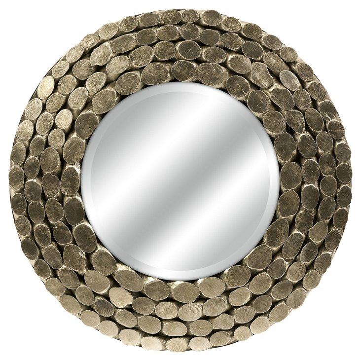 Padilla Silver Leaf Wood Mirror