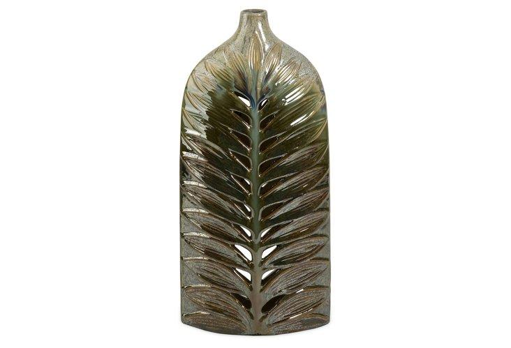 "17"" Cutwork Leaf Vase"
