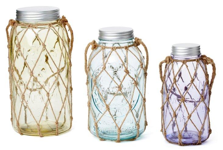 Marci Decorative Glass Jars, Asst. of 3