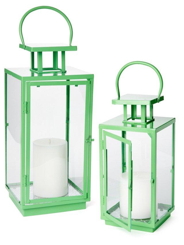 Green Essentials Lanterns, Asst. of 2