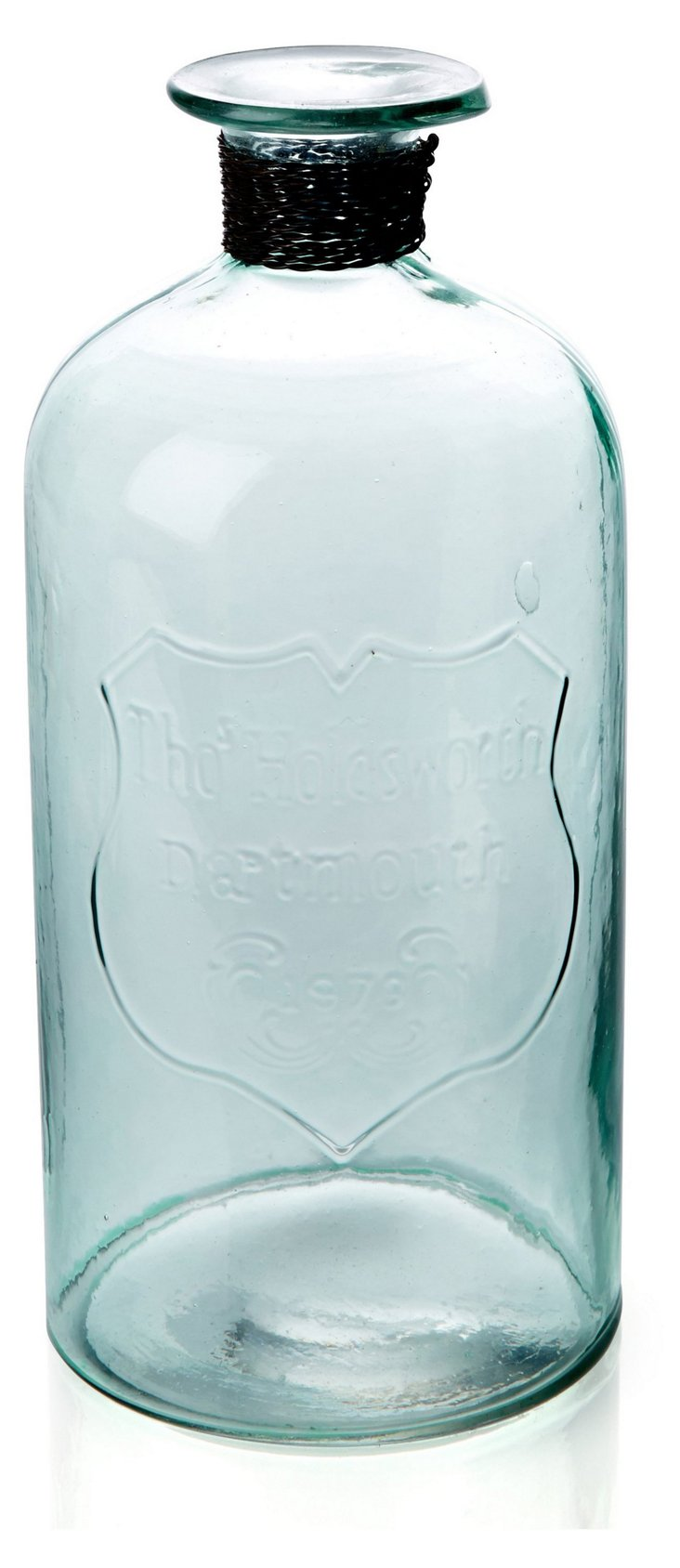 "9"" Stokes Embossed Glass Jug"