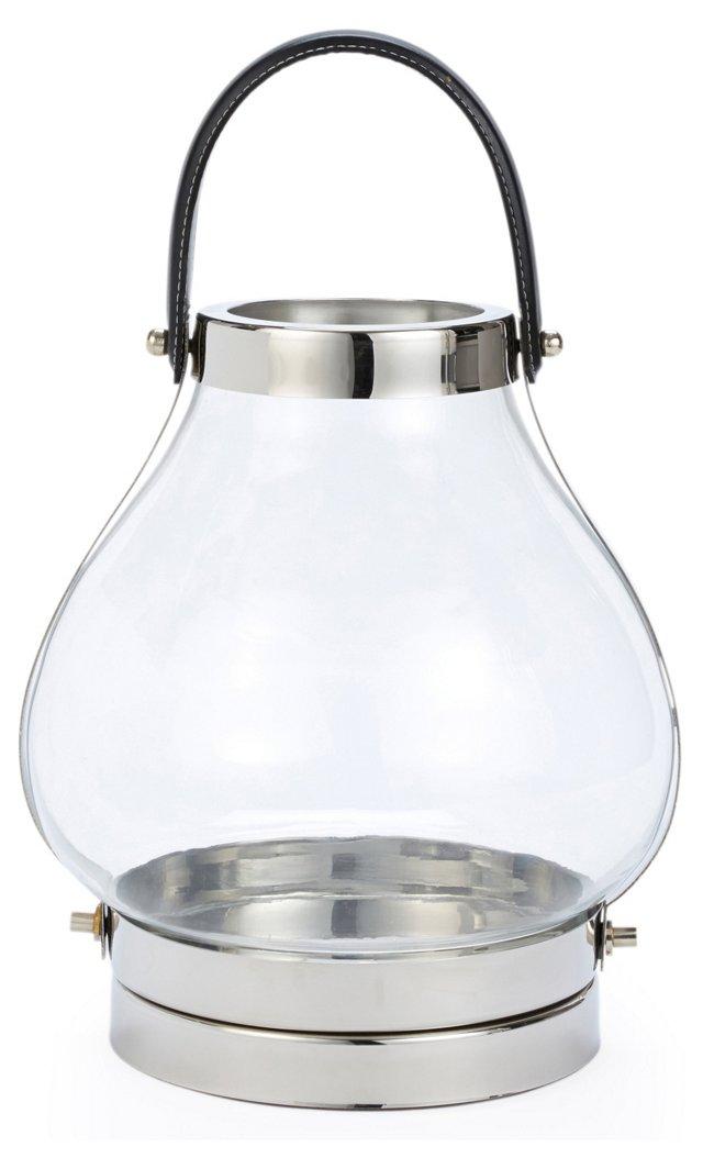 "13"" Glass Jar Lantern"