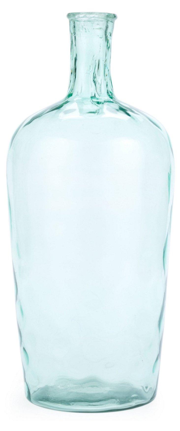"""20"""" Hammered-Glass Vase"""