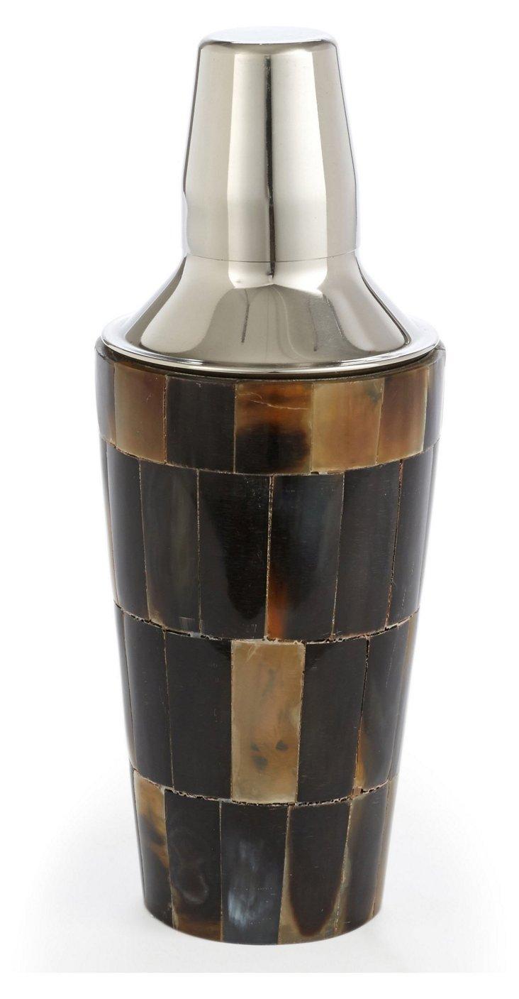 Checkered Horn Cocktail Shaker