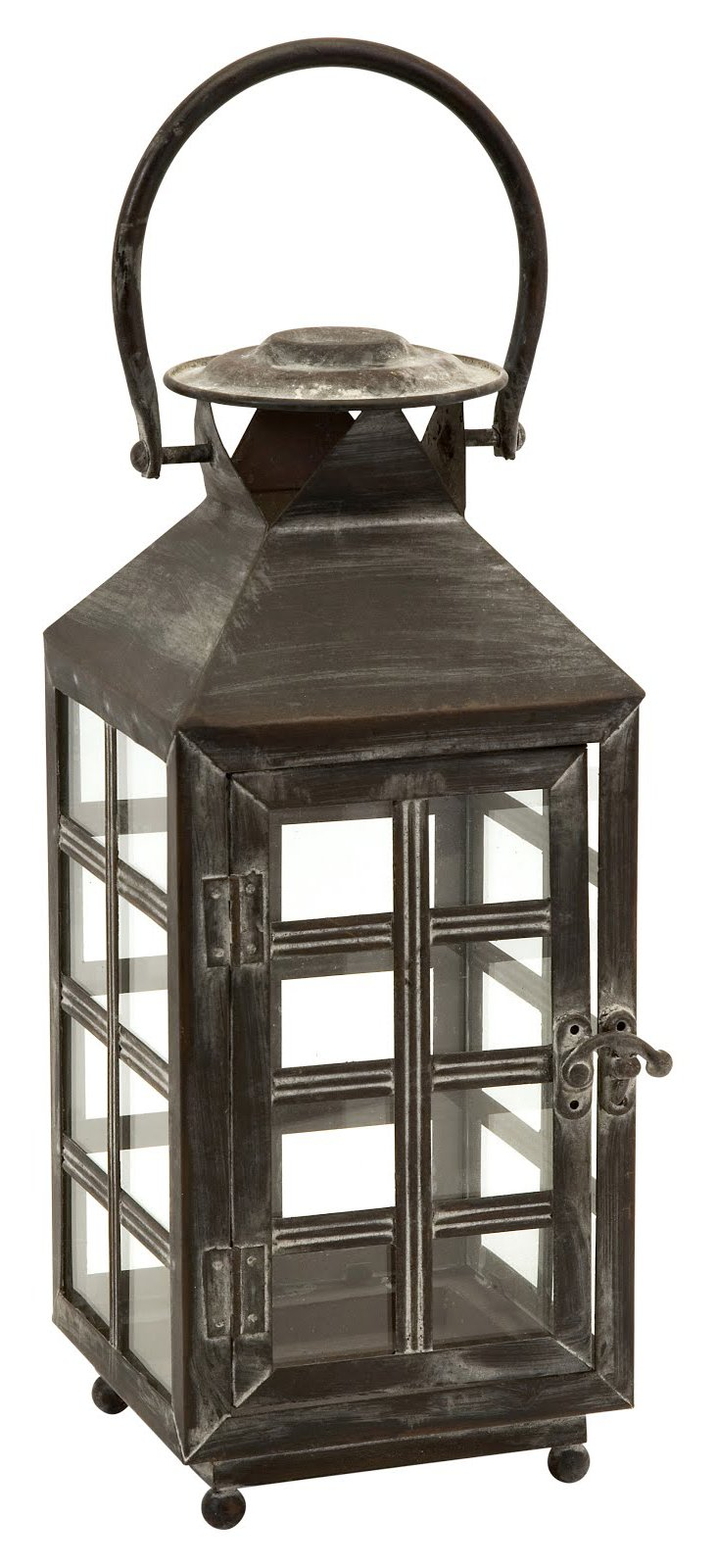 "16"" Engine Lantern, Gray"