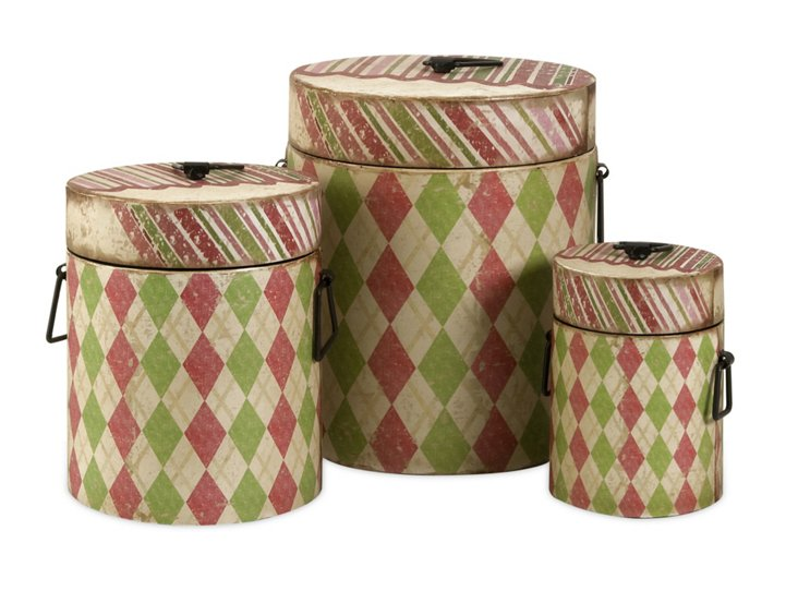 S/3 Lidded Boxes