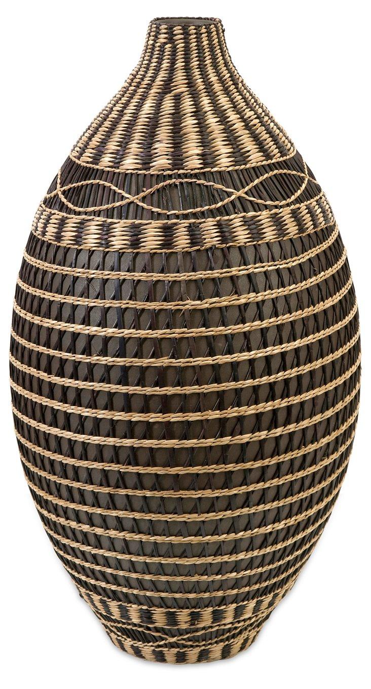 Seagrass & Ceramic Vase, Large