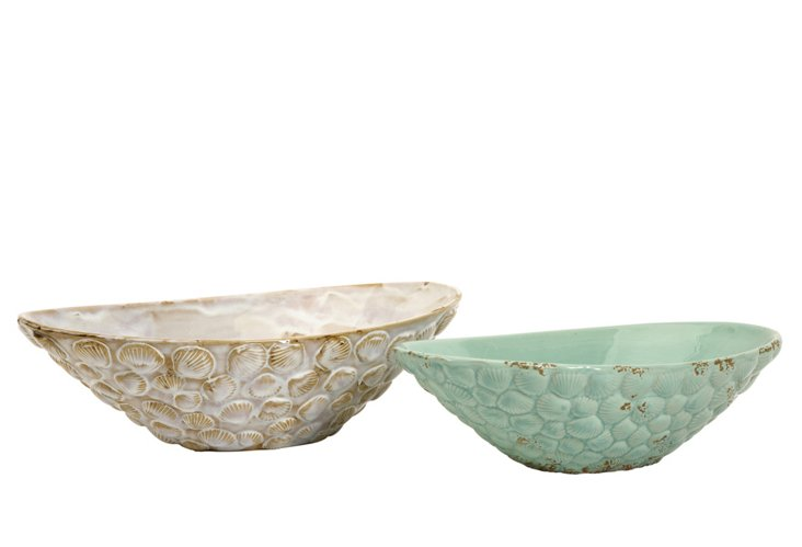 Asst. of 2 Seashell Serving Bowls