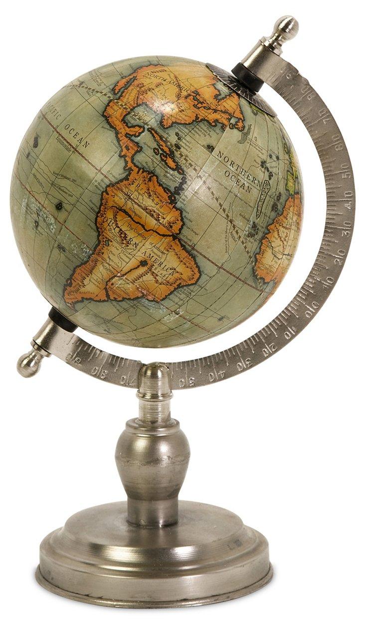 "10"" Colombo Globe, Green/Silver"