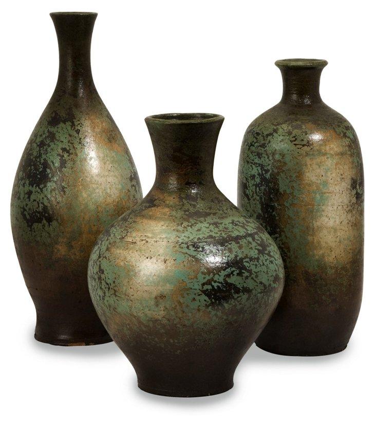 Grassland Vases, Asst. of 3