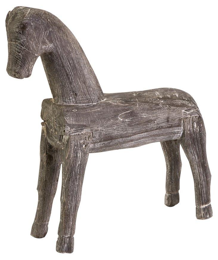 "22""  Sculptural Horse, Gray"