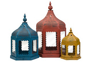 Verniona Metal Lanterns, Asst. of 3