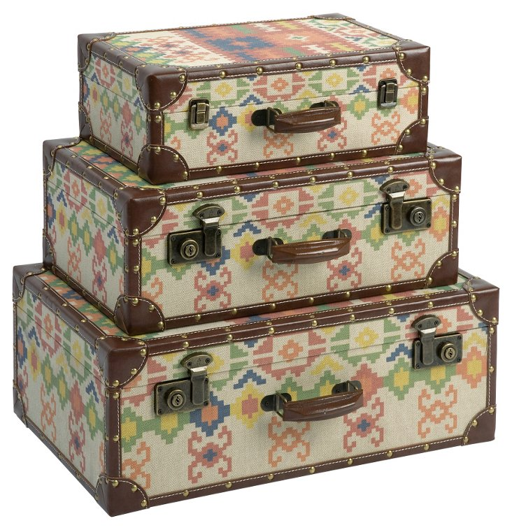 Cabin Storage Suitcases, Asst. of 3
