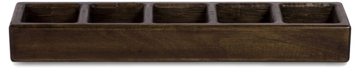 "20"" Aurora Box Candleholder, Brown"