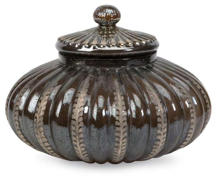 "11"" Newcastle Glass Pot"