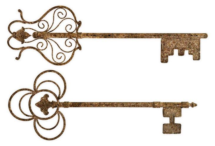 Chateau Wall Keys, Asst. of 2
