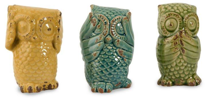 Wise Owls, Asst. of 3