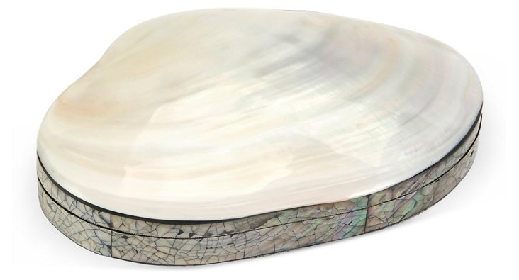 Large Boracay Mother-of-Pearl Box, White