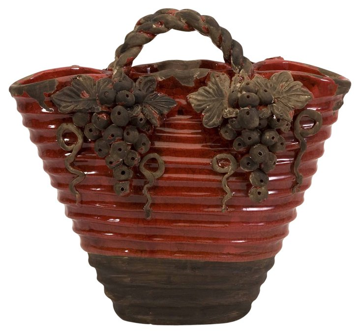 "12"" Chateau Basket Vase"