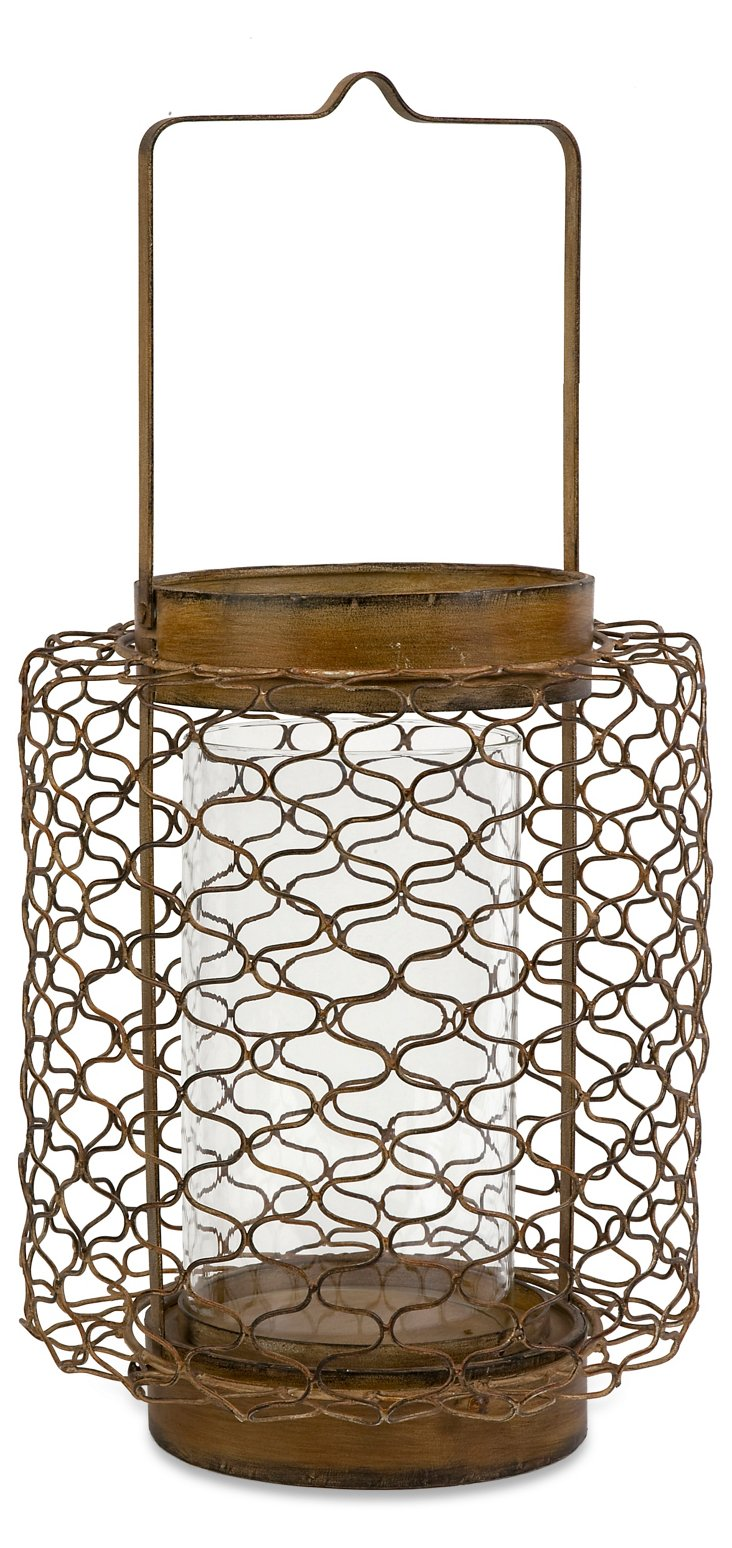 "25"" Escate Wire Candleholder"