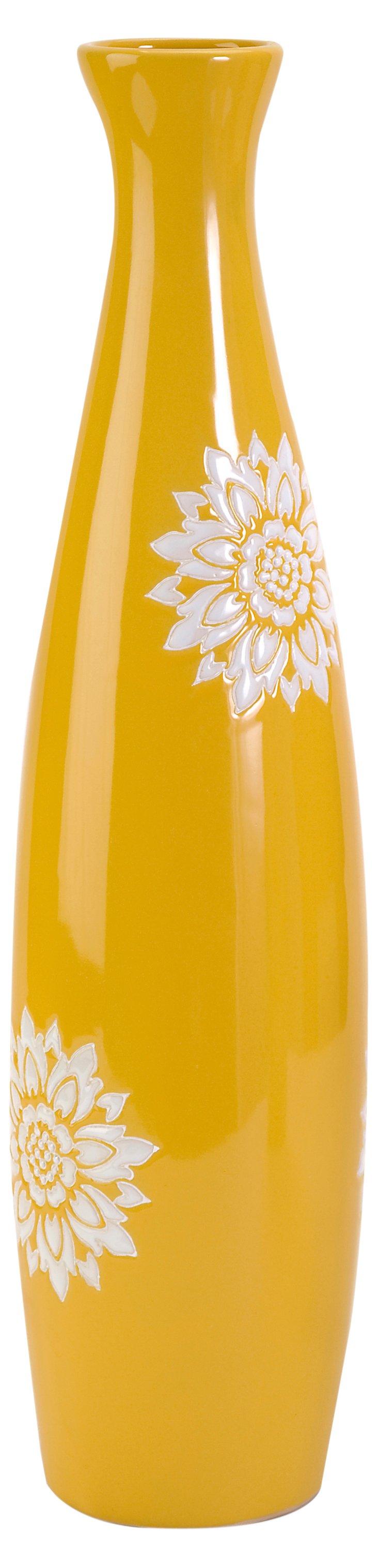 Essentials Yellow Tall Vase