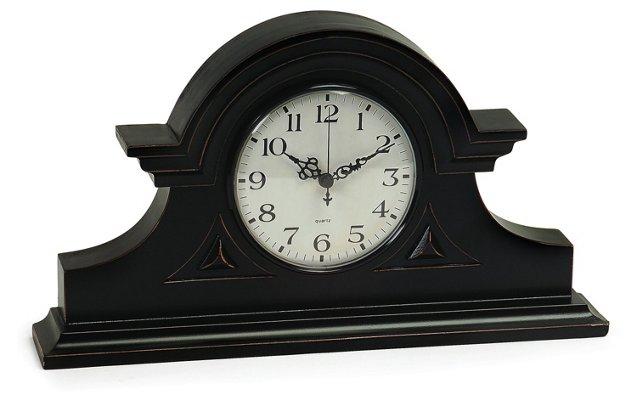 "15"" Mantel Clock, Black"