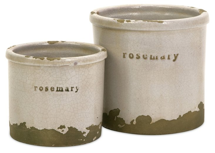 Asst. of 2 Rosemary Herb Canisters