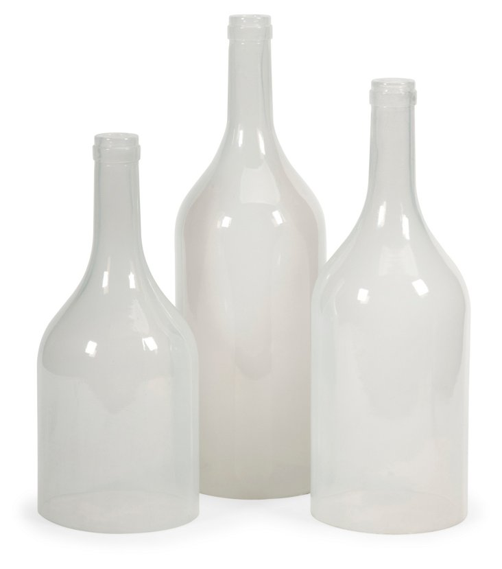 Asst. of 3 Monteith Bottles, White