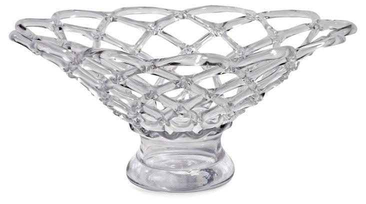"""22"""" Glass Web Bowl"""