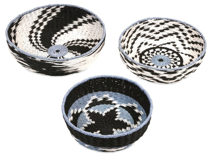 Asst. of 3 Matata Woven Baskets