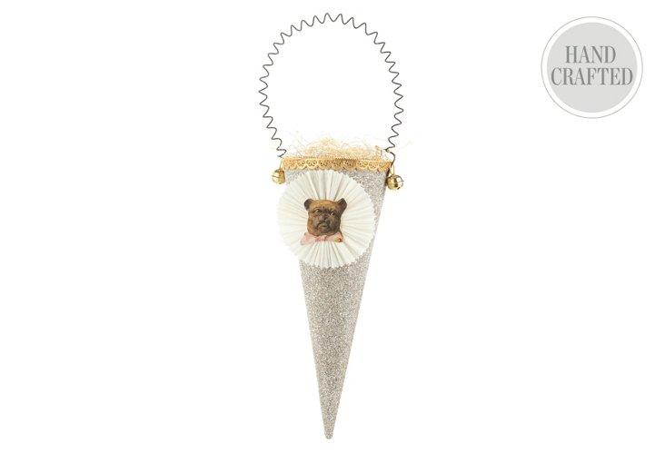 Large Glitter Cone, Dog