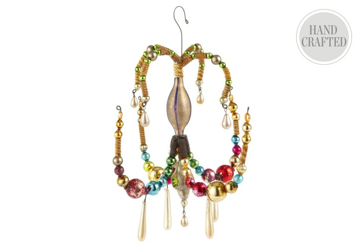 Beaded Chandelier Ornament