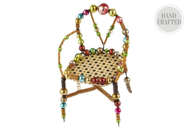 Beaded Chair Ornament