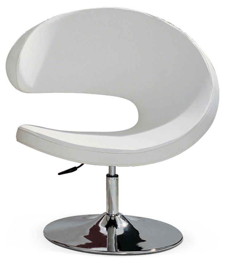 Turn Accent Chair, White