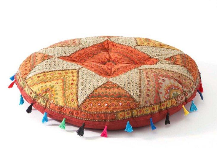 Star Floor Cushion, Red