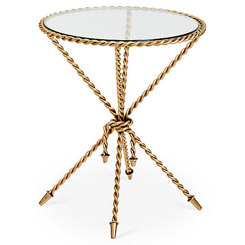 Hyannis Side Table, Gold