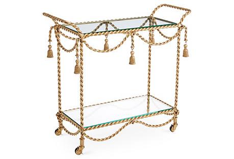 Hyannis Bar Cart, Gold