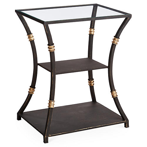 Silas Side Table, Burnished Gold